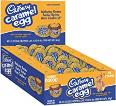 CADBURY Caramel Egg Candy, Milk Chocolate Egg Filled with Creamy Caramel, 1.2 Ounce Egg (Pack of 48)