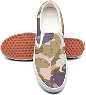 RegiDreae Canvas Slip on Sneakers for Women Summer Beach Party with Flamingo Fashion Sneaker