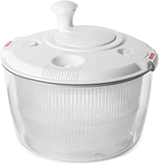 Andcolors Deluxe Salad Spinner Large 4.7 qt Size BPA Free Clips & Locking Tabs for Safety Dry & Drain Lettuce Easily for Crisper Salads in Half the Time Bowl Goes from Prep to Table (Large)
