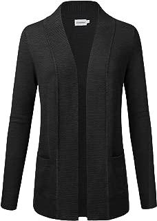 JJ Perfection Women's Open Front Knit Long Sleeve Pockets Sweater Cardigan