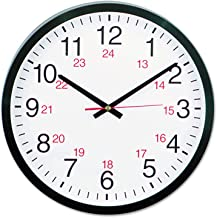 24 hour round wall clock