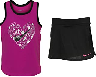 Nike Toddler Girls Heart Graphic Tank & Athletic Bottom Set - Black (3T)