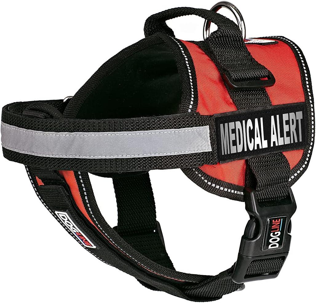 Dogline Vest Harness for Dogs and Patc Removable Medical Popular 2 Alert Sales