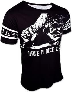 Manga T Shirt Sunglass Samurai Have A Nice Death Men's Japan Designer T-Shirt