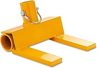 Pallet Buster   Deck Wrecker - Best Wrecking Bar for Breaking Pallets - Steel Head - 2 Secure Locking Pins - Yellow - Molomax