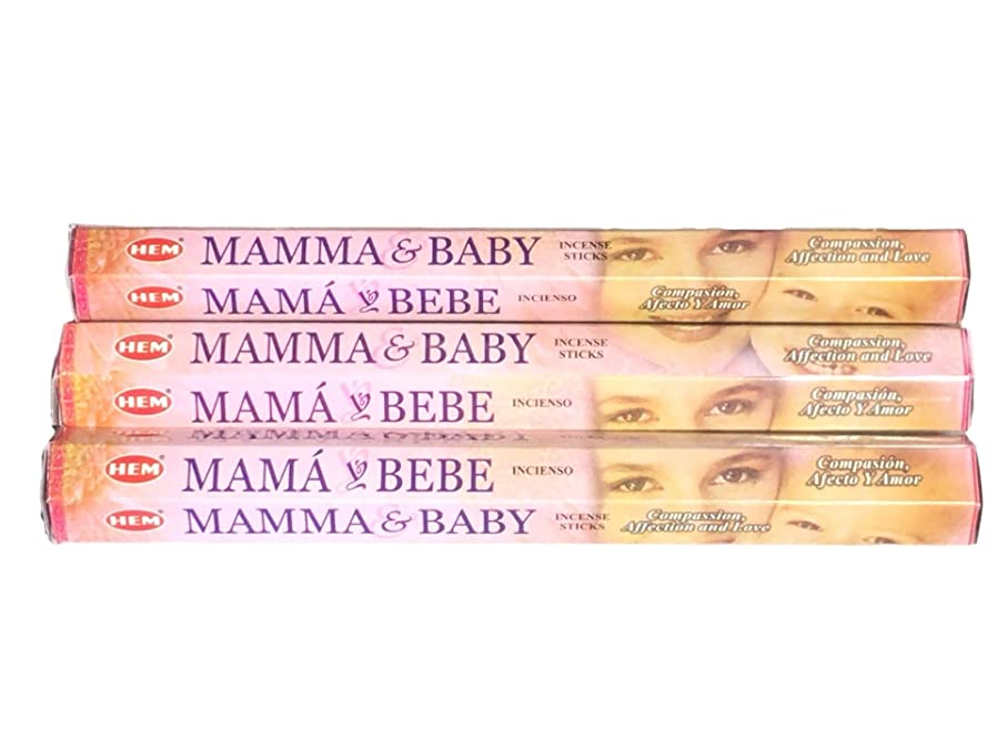 デコレーション有害無声でHEM ヘム ママ&ベイビー MAMMA&BABY ステック お香 3箱