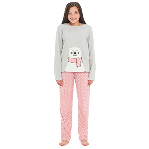 6e452e4d6738 Slumber Hut® Girls Polar Koala Bear Pyjamas Microfleece Grey Loungewear  Novelty Motif Children s PJ s -