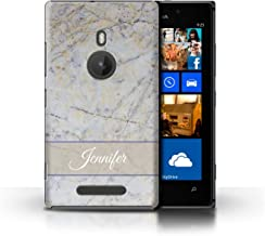 Personalized Custom Phone Case for Nokia Lumia 925 Custom Marble Cloud Grey Banner Design Transparent Clear Ultra Slim Thi...