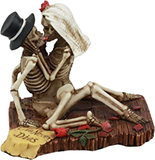 Ebros Love Never Dies Castaway Wedding Skeleton Couple Sex On The Beach Figurine Day Of The Dead Decorative Valentine Skeleton Lovers Kissing Statue