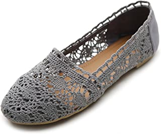 Womens Shoe Lace Ballet Breathable Flat
