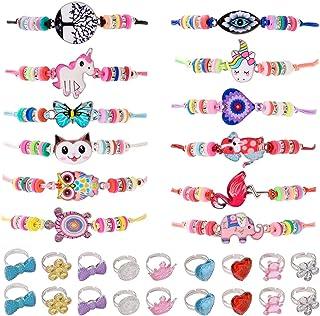 ZITFRI 30 PCS Bracelet Amitié Fille BagueBijoux - Petits Cadeaux Anniversaire Jouet Fille Bijoux Bracelet