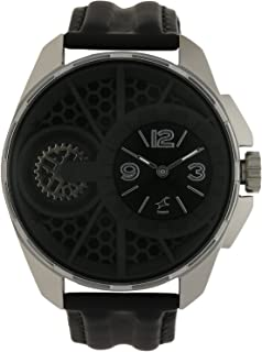 Fastrack Men's Casual Wrist Watch with Analog Function,Quartz Mineral Glass, Water Resistant Leather Strap