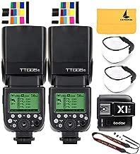 GODOX TT685S TTL 2X Camera Flash High Speed 1/8000s GN60 Compatible Sony DSLR Cameras X1T-S I-TTL 2.4G Wireless Flash Trigger Transmitter for Sony DSLR Cameras with MI Shoe (2TT685S+X1T-S)