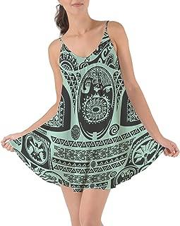 Maui Tattoos Inspired Disney Moana Beach Cover up Dress