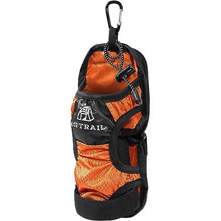 ペットボトルホルダーカバーVer.2.0【MGTRAIL】登山リュックベルトに装着ケージポケットに入るドリンクホルダー水筒ウォーターボトル折りたたみ傘も収納可(オレンジ)