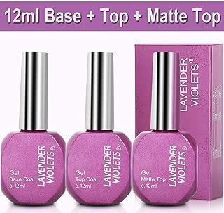 No Wipe Gel-Nail-Polish-Base-Top-Coat Shiny and Matte Top Gel Long Lasting 12ml F807