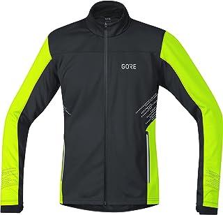 GORE WEAR Men's Zipped Running Shirt, R5, GORE WINDSTOPPER