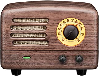 Muzen UTOPIA WOOD WW Portable Wireless FM Radio and Bluetooth Speaker, Walnut Wood
