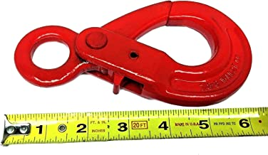 Self Locking Eye Hook - 7/8-8 G80 Eye Self Locking Safety Hook Lifting Rigging, 4000 lbs Working Load Limit (4)