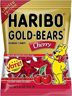 Haribo Goldbears Cherry, 4 oz. Bag, (Pack of 12)