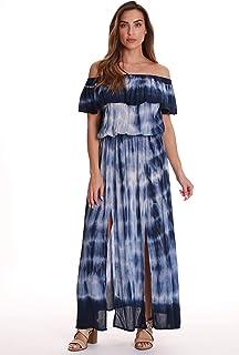 ce263b187e Riviera Sun Tie Dye Off Shoulder Maxi Sundress Swimwear Cover Up Dress