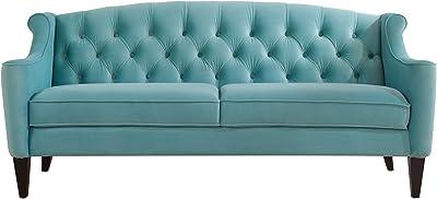 Jennifer Taylor Home Ken Sofa, Arctic Blue