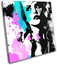 Bold Bloc Design - Blondie Debbie Harry Pop Abstract Musical 60x60cm Single Canvas Art Print Box Framed Picture Wall Hanging - Hand Made in The UK - Framed and Ready to Hang RC-6401(00B)-SG11-LO-B
