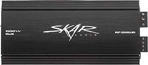 Skar Audio RP-1500.1D Monoblock Class D MOSFET Amplifier with Remote Subwoofer Level Control, 1500W