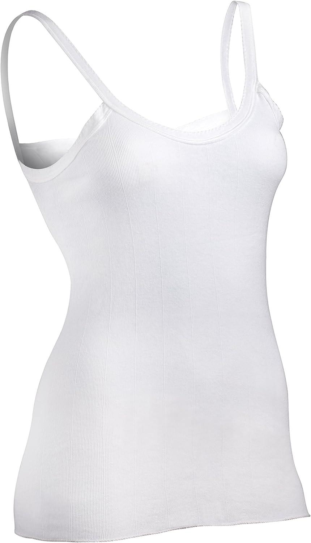 Indera Women's Sleeveless Vest 100-Percentage Cotton 1x1 Rib (3-Pack)