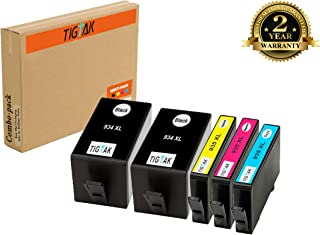 TigTak 5 Pack Replacement for HP 934XL 935XL 934 935 Compitable Ink Cartridge for HP Officejet Pro 6230 6830 6835 6836, Officejet 6812 6815 6220 6820 Printer