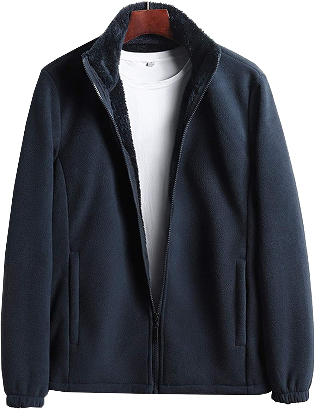 PEHMEA Men's Steens Sherpa Lined Full Zip Outdoor Moutain Polar Fleece Jacket Mock Neck