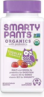Daily Organic Gummy Toddler Multivitamin: Probiotic, Vitamin C, D3 & Zinc for Immunity, Omega 3, Selenium, Biotin, B6, Met...