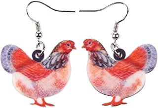 Acrylic Drop Chicken Earrings 2016 News Design Lovely Gift For Girl Women By The Bonsny