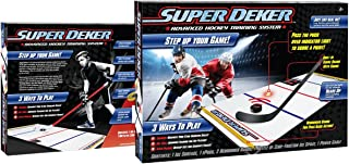 SuperDeker Advanced Ice Hockey Training System | Real Ice Feel, Light Up Sensors Stickhandling Game - 3 Training Modes | 6...