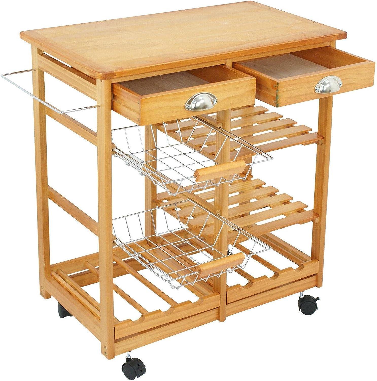 HJKM Cheap bargain Kitchen Cart w Kitchen-Islands-and-carts OFFicial shop Shelves Ta