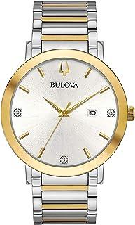 Bulova - Reloj Analógico para Hombre de Cuarzo con Correa en Acero Inoxidable 98D151