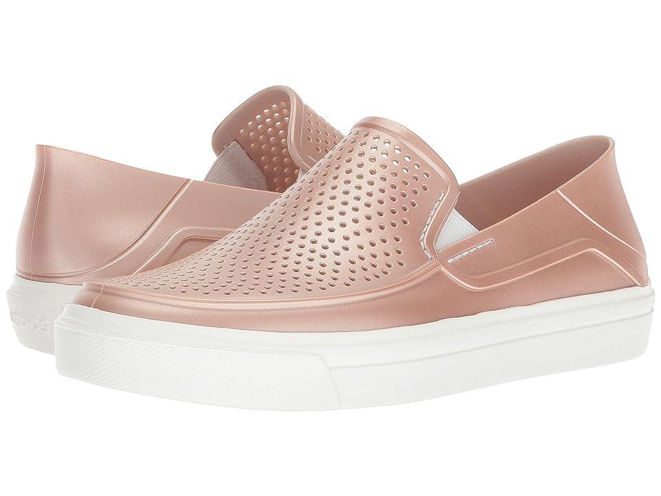 Crocs CitiLane Roka Metallic Slip-On (Rose Dust) Women