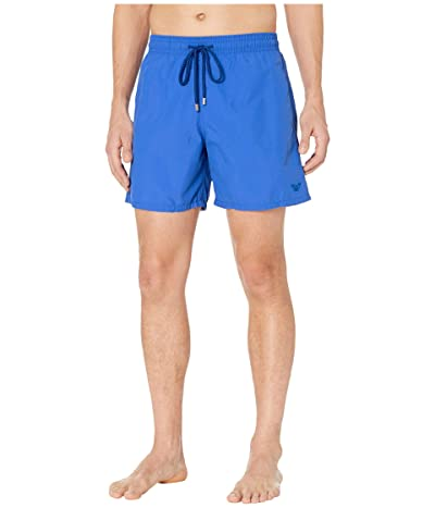 Vilebrequin Aquareactive Crabs Moorea Swim Trunks (Royal Blue) Men