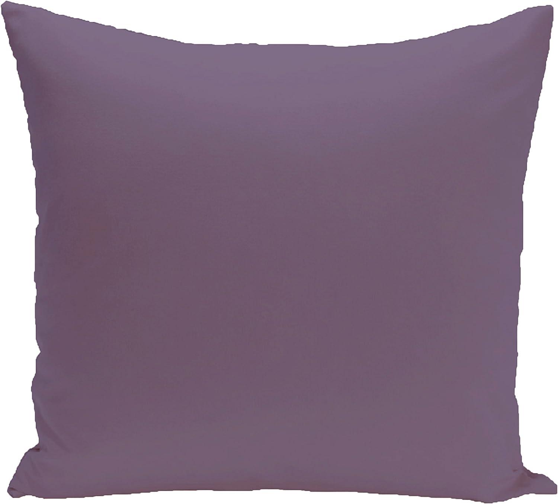 E by design O5PSOPU15-16 Solid Purple Outdoor Pillow-Parent, Purple Rain, 20  x 20