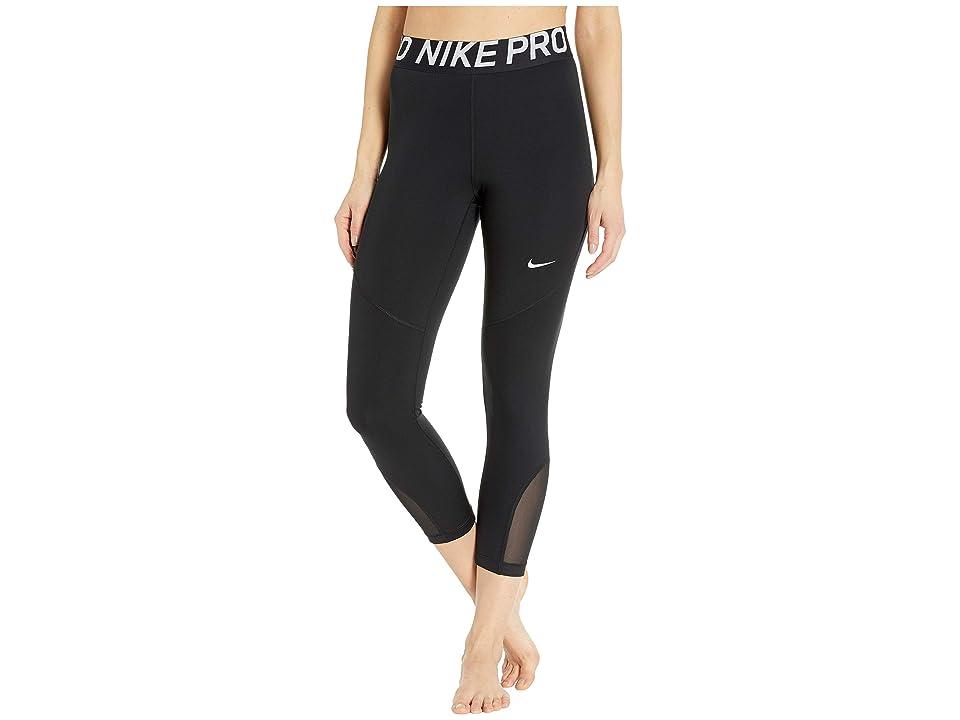 Nike Pro Crop Tights (Black/White) Women