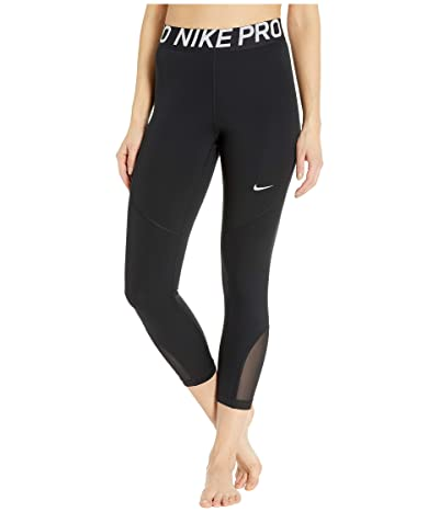 Nike Pro Crop Tights (Black/White) Women
