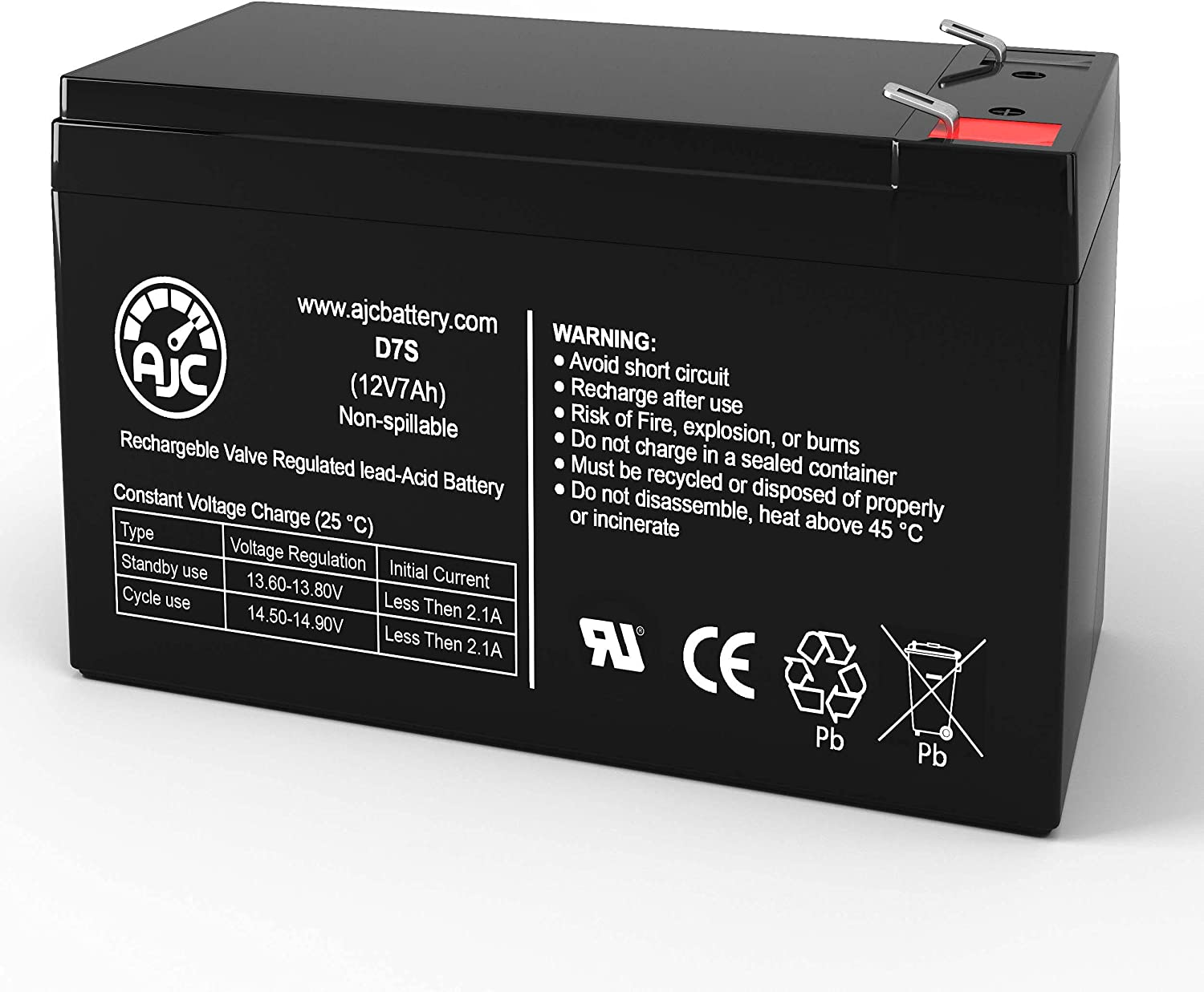 AJC Battery Compatible with Sheng Department store Yang 7Ah 12V Sealed Year-end annual account Lea SY1270