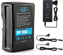 REYTRIC 154Wh(10400mAh) V Mount/V-Lock Battery with Upgrade D-tap 5A Output Charger and D-Tap Cable Compatible Sony Video ...