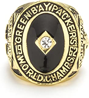Twcuy 1966 Green Bay Packers Football Super Bowl Championship Replica Ring for Fans Men's Gift Size 9-13