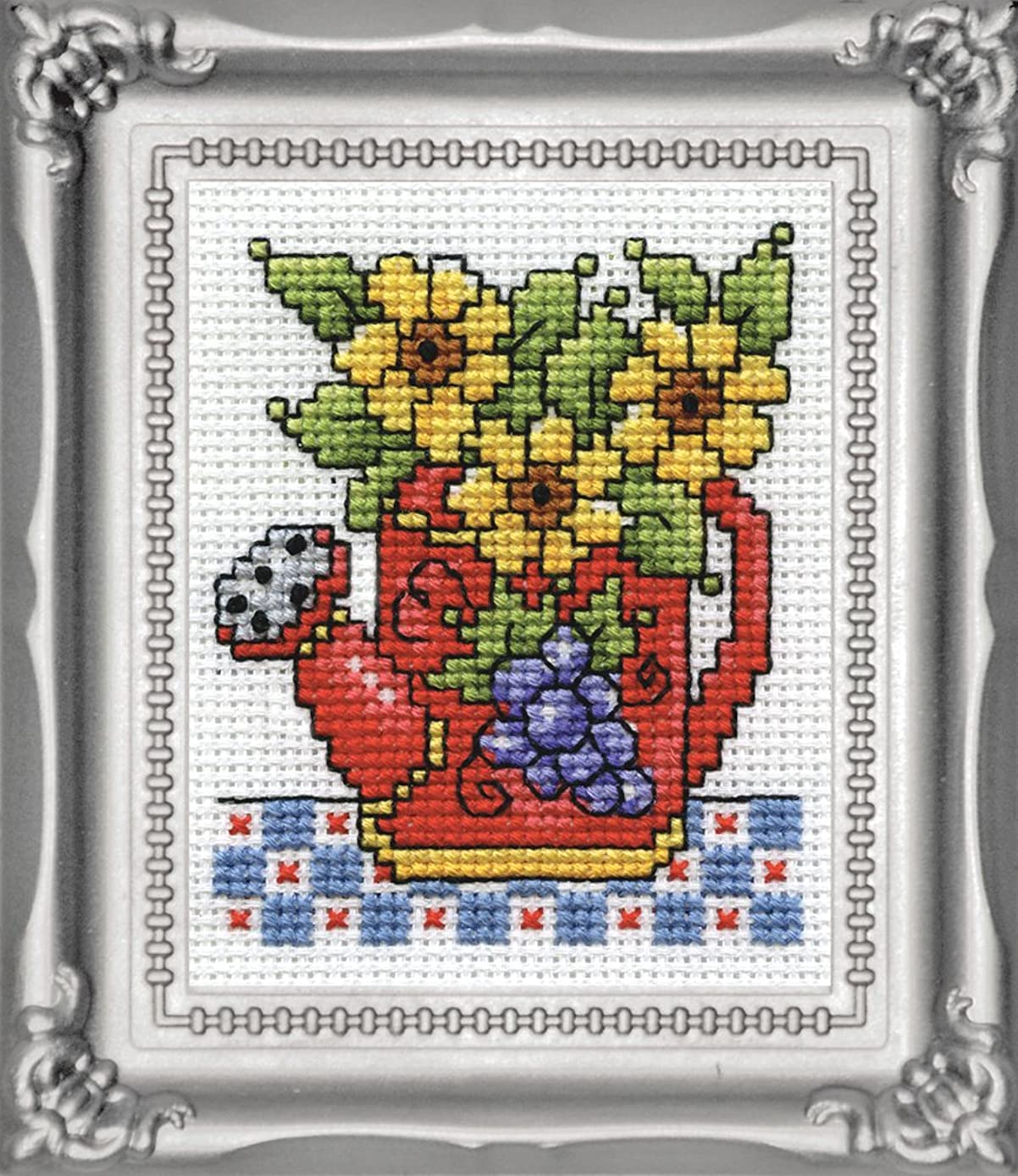 Design Works Crafts Watering Can Counted Cross Stitch Kit, 2 by 3