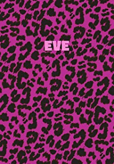 Eve: Personalized Pink Leopard Print Notebook (Animal Skin Pattern). College Ruled (Lined) Journal for Notes, Diary, Journ...
