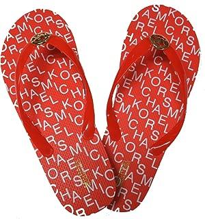 Michael Kors Women's Signature Flip Flops Mandarin Orange