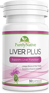 LiverPlus - Milk Thistle Liver Cleanse & Support Supplement - 300mg Silymarin Dandelion Root & Artichoke - Designed to Hel...