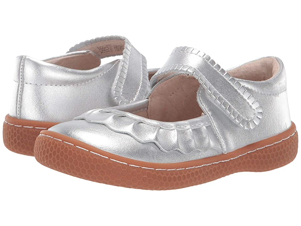 Livie & Luca Ruche (Toddler/Little Kid) (Silver Metallic) Girl