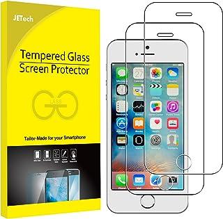 JETech Protector de Pantalla compatible iPhone SE, iPhone 5s, iPhone 5 y iPhone 5c, Vidrio Templado, 2 Unidades